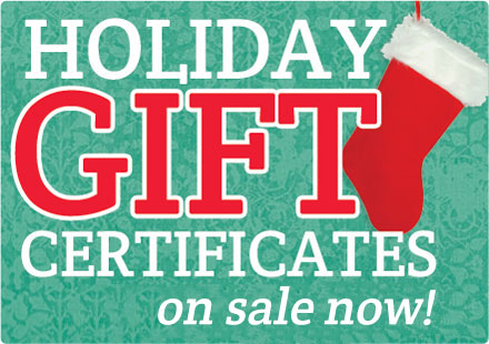 Gift Certificates On Sale Now